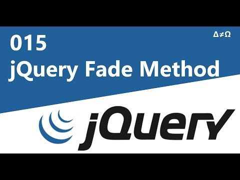 015 jQuery Fade Method - jQuery Tutorial for Beginners thumbnail