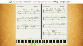 Main Hoon Hero Tera (Salmaan Khan) Piano Staff Notation |  PlayAlong Version