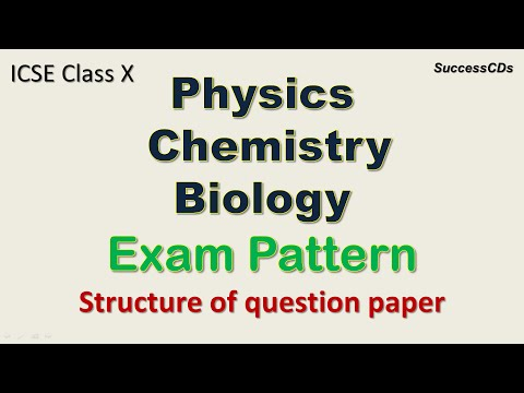 ICSE Class X Science Exam Pattern And Marking Scheme