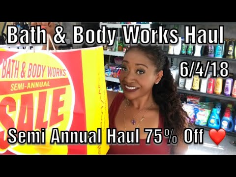 Bath and Body Works Semi Annual Sale 75% Off Coupon Haul!|Lots of Amazing Deals!❤️