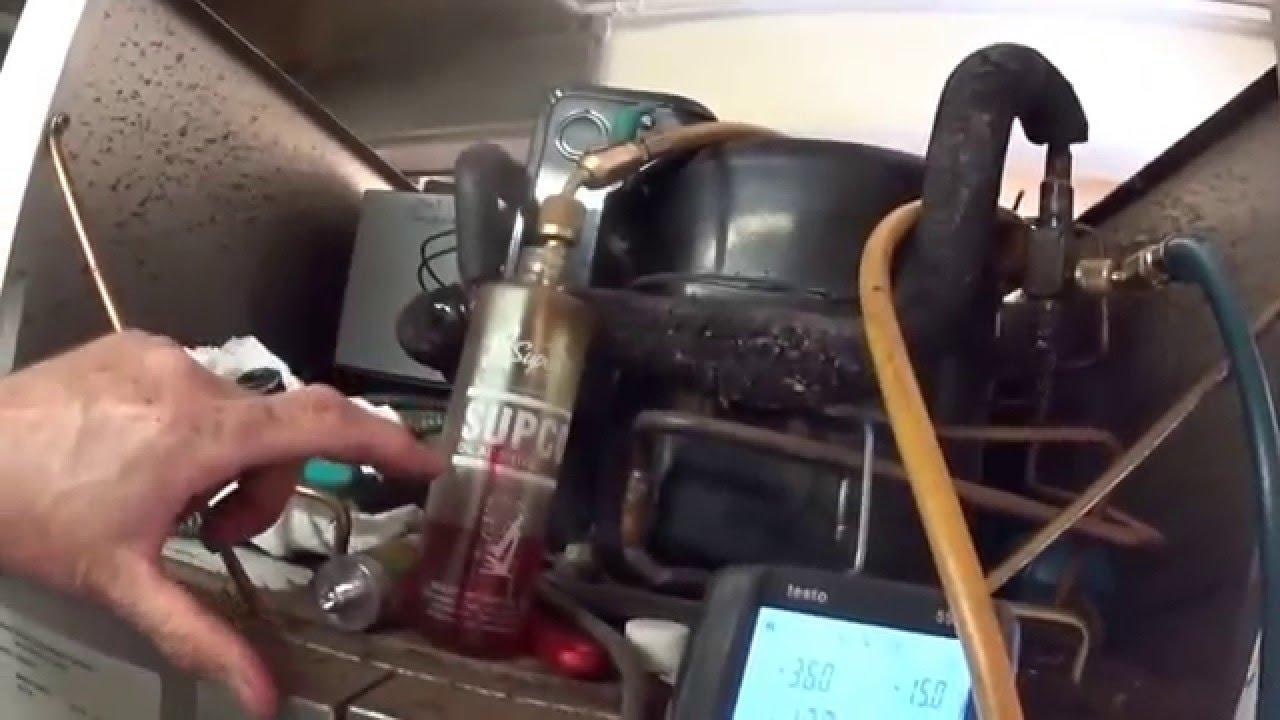 Supco Oil Additive Added To A Freezer Compressor