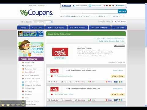 How To Use Guitar Center Coupon Codes