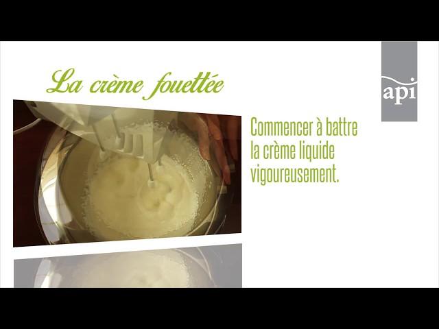 La crème fouettée