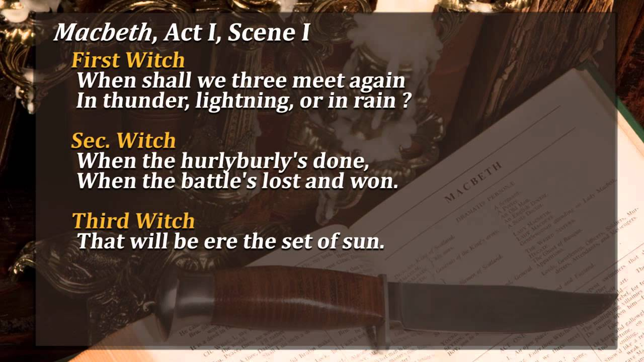analysis of act iv scene i The tragedy of macbeth shakespeare homepage | macbeth | act 4, scene 1  previous scene | next scene scene i a cavern in the middle, a boiling  cauldron.