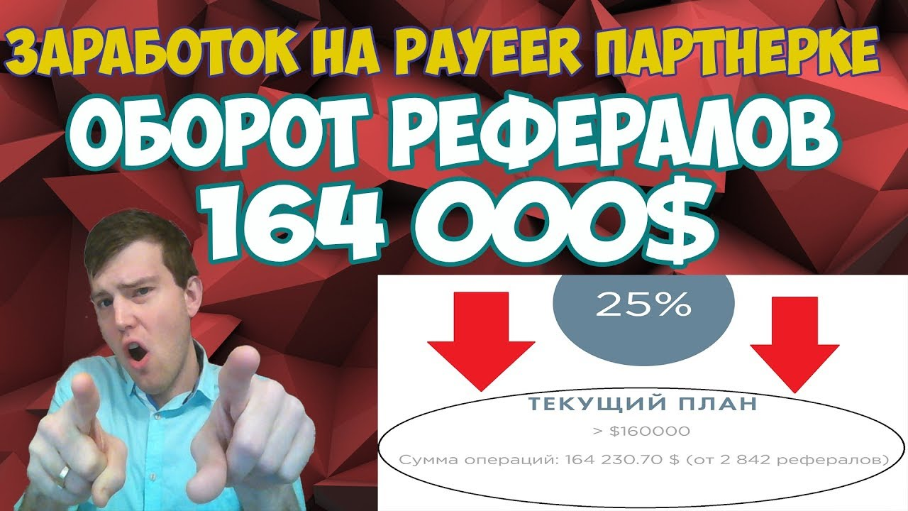 Заработок на Payeer партнёрке | Оборот рефералов 164 тысячи долларов