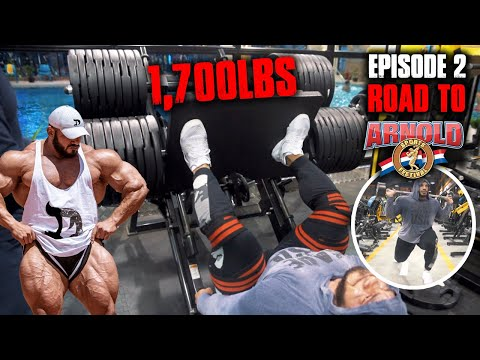 BIG RAMY 1,700LBS LEG PRESS | ROAD TO ARNOLD 2020 | 8 WEEKS OUT | EPISODE 2