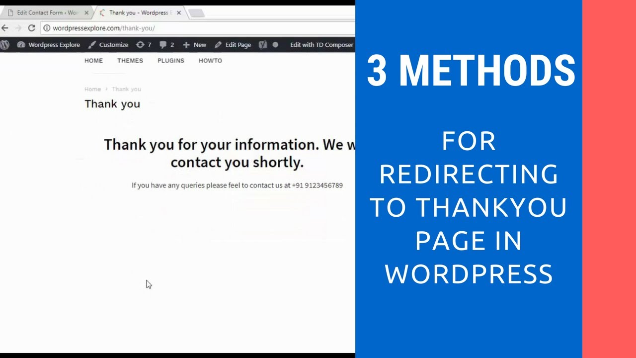 3 methods to redirect to thank you page in Contact Form 7 | Wordpress