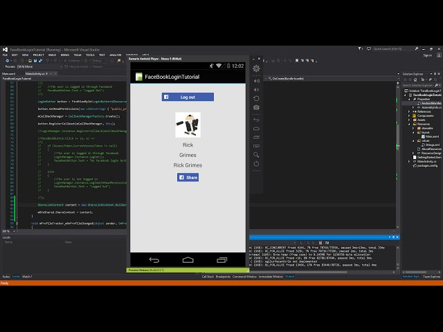 Xamarin Android Tutorial   71   Facebook Sharing