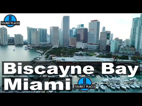 Biscayne Bay, Bayside Marketplace, Bayfront Park Miami | Drone Aerial View