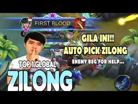 GILA!! SKYWEE!! AUTOPICK ZILONG!! NON STOP KILLING!!!
