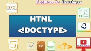 Doctype in html | HTML 4 & HTML 5 Doctype | HTML Tutorials - 4  | Beginner to developer