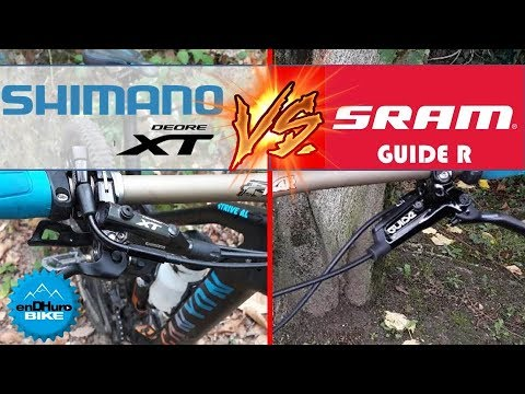 SRAM Guide R VS Shimano XT - Duel freins à disque VTT - Test End'HuroBike