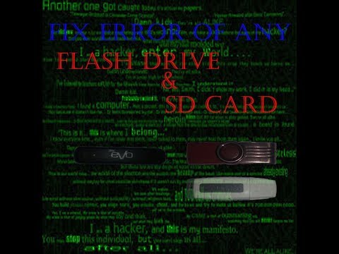 How to clear write protection on usb flash drivr/sd card.