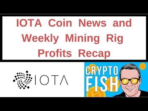 IOTA Coin News And Weekly Mining Rig Profits Recap