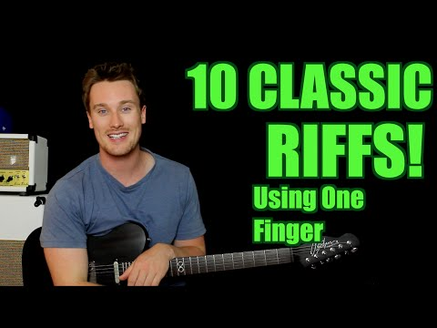 10 Classic Riffs! Only One Finger Needed! Deep Purple, Black Sabbath, Cream, Greenday etc
