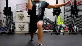 How To Perform Lunge Arnold Press