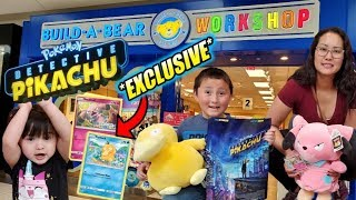 EXCLUSIVE NEW POKEMON CARDS AT BUILD A BEAR! DETECTIVE PIKACHU EVENT! NEW SNUBBULL & PSYDUCK PLUSH!