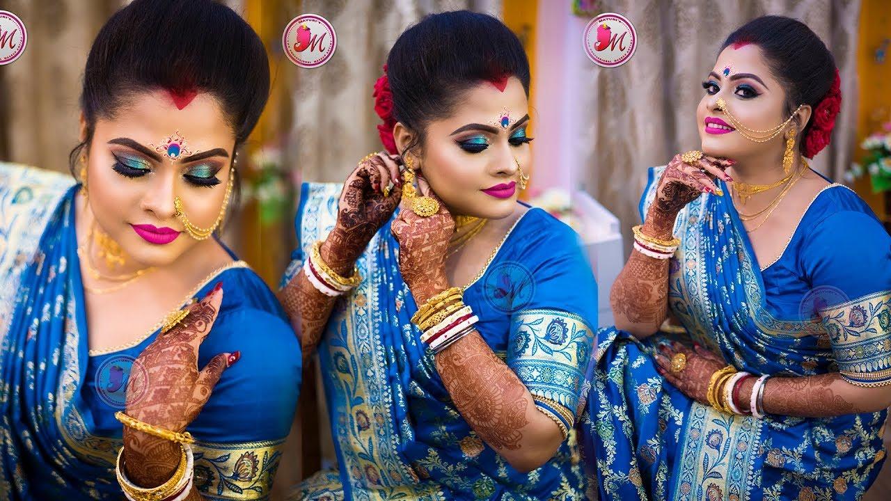 best bengali reception bridal makeup    step-by-step demonstration    by mayuri sinha sarkar