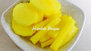 How to make Yellow Pickled Daikon Radish Danmuji Takuan