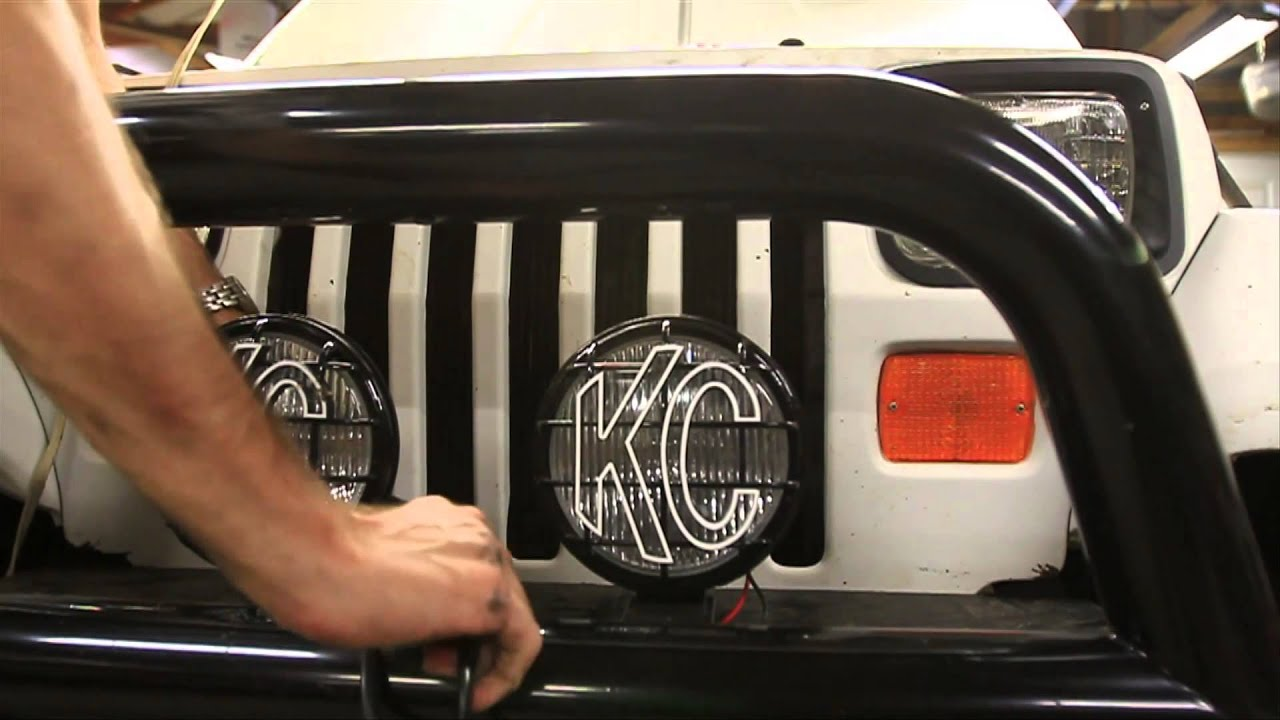 how to wire offroad lights youtube rh youtube com KC Fog Lights Wiring-Diagram Jeep Fog Lights