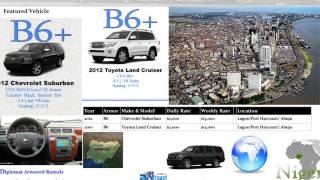Armoured Car Hire in Libya, Nigeria, Kenya, Rwanda & South Africa