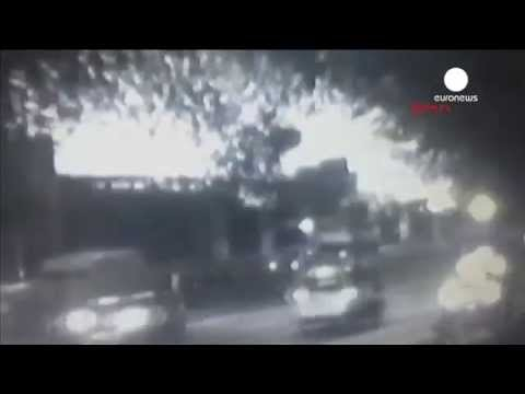 Moment of Istanbul pipe bomb blast at metro station