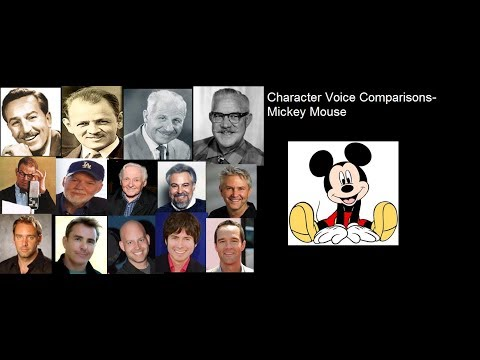 Character Voice Comparisons- Mickey Mouse