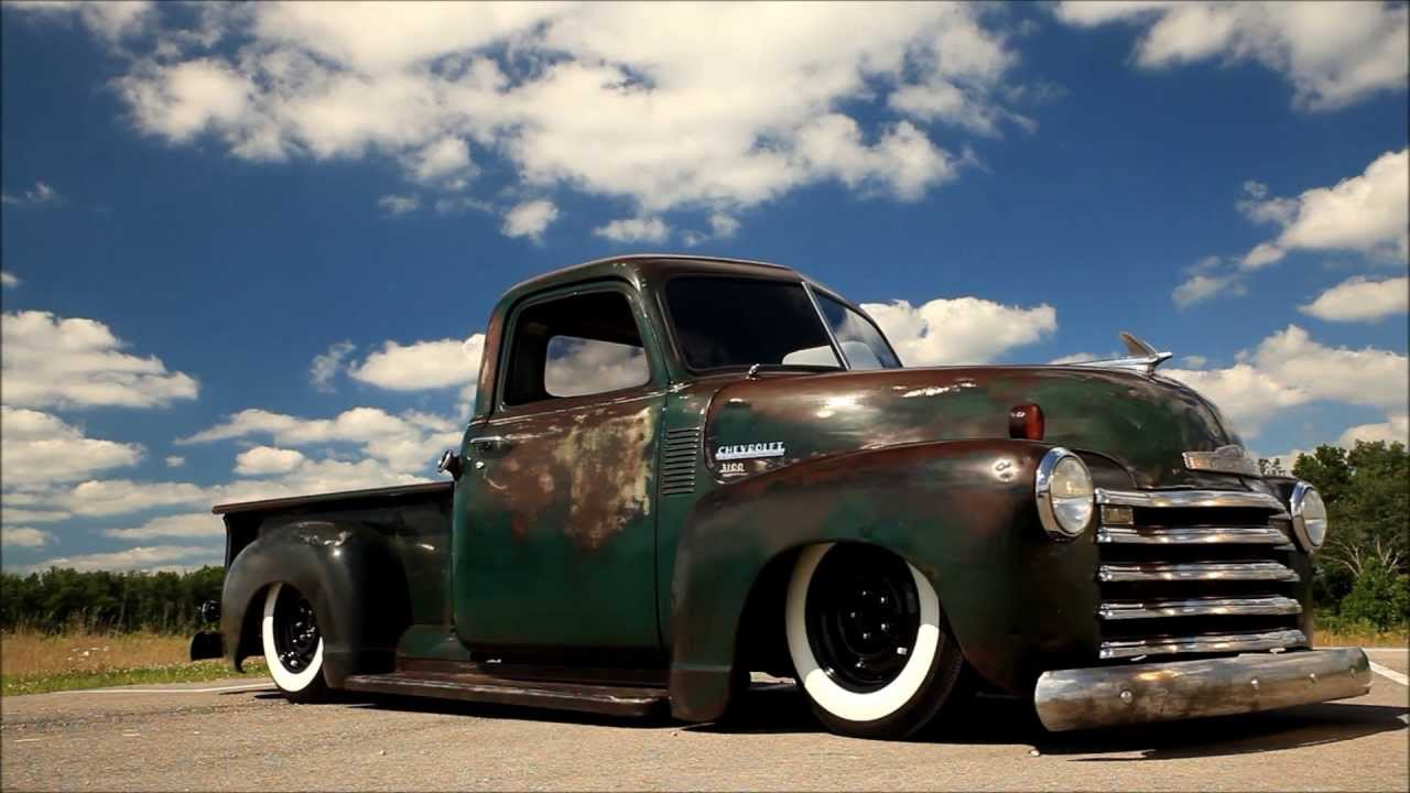 1950 chevrolet pickup patina shop truck air bagged air ride ac and for sale youtube