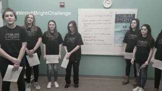 Take the #WriteItBrightwithAmiliasLight Photo Challenge and help to end sex trafficking!