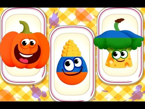 Funny Foods Children Learn Colors, Numbers, Shapes & Sizes - Fun Educational Kids Games