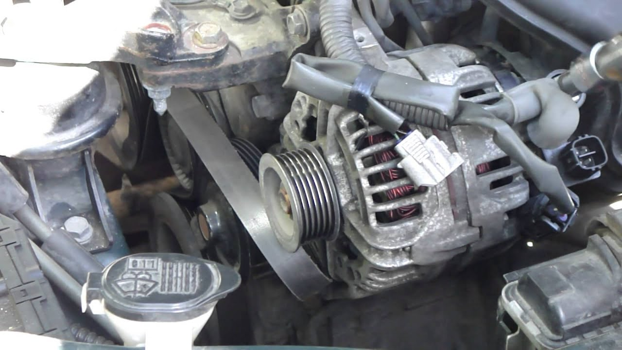 how to change alternator toyota corolla vvt i engine years 2000 rh youtube com 2011 Toyota Camry Alternator Problem 2007 Toyota Camry Alternator Change
