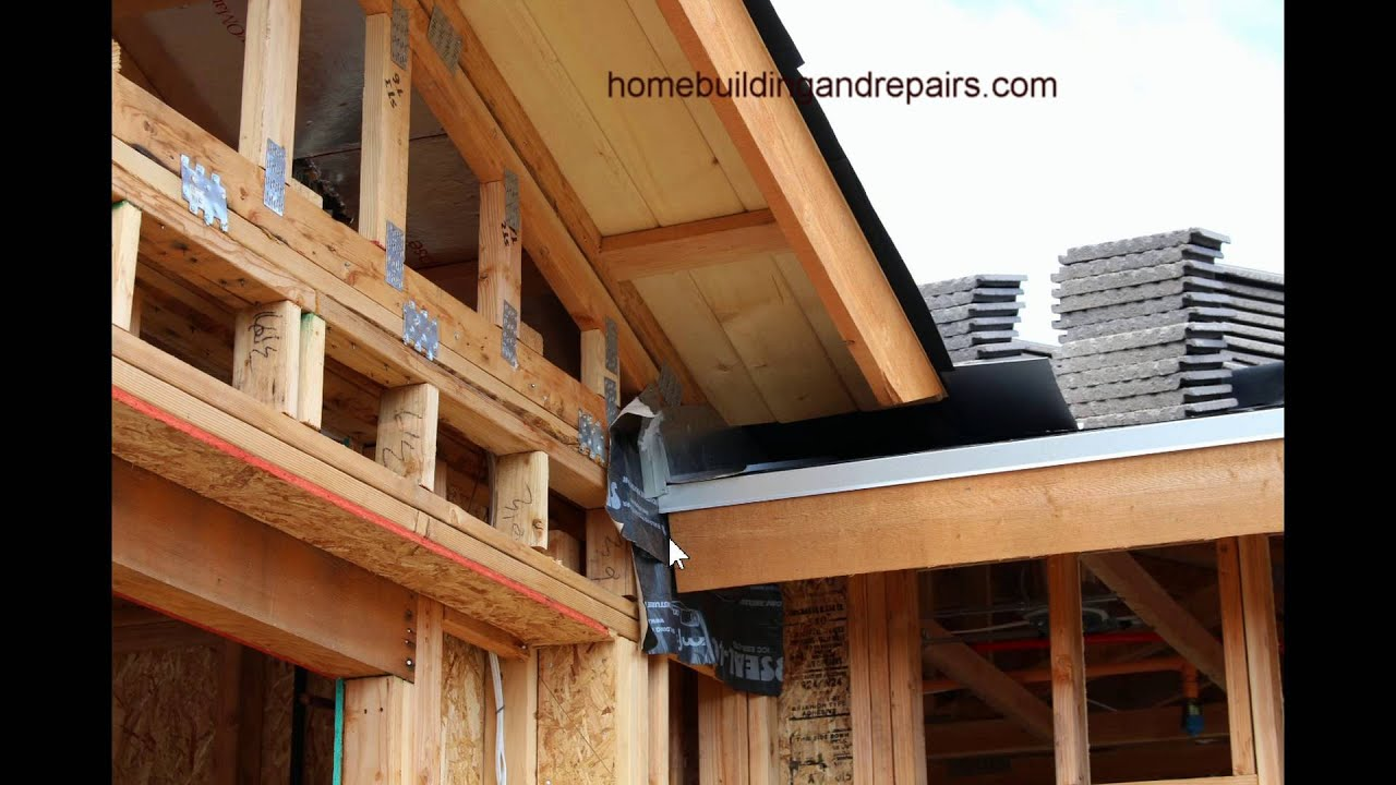 Home Building Tips how to protect framing where roof overhangs connect – home