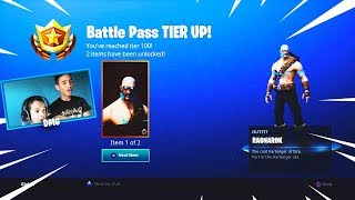 MY LITTLE BROTHER UNLOCKS THE RAGNAROK SKIN FOR ME! (Fortnite Battle Royale)