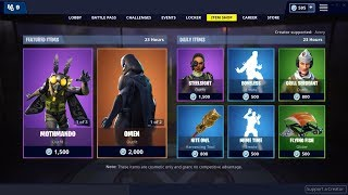 Mothmando et Omen Skin (Retour) ! Fortnite Item Shop 22 janvier 2019