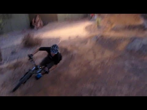 On the Pump Track at Rage Cycles in Scottsdale, Arizona