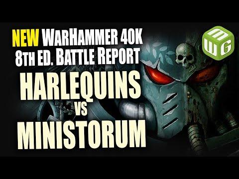 Harlequins vs Adeptus Ministorum Warhammer 40k 8th Edition Battle Report Ep 23