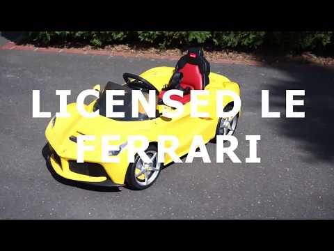 LICENSED LE FERRARI - YELLOW - Ride on Cars | Australia & New Zealand