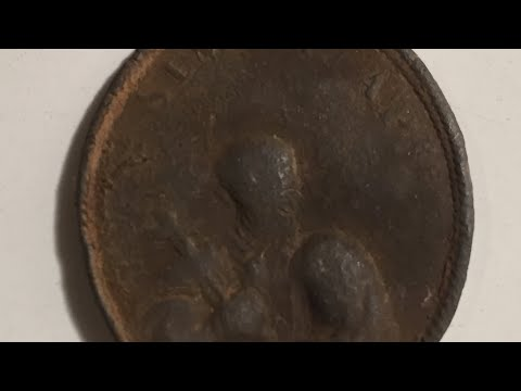 Roman Catholic pendant!!! See description! Metal detecting Garrett AT Max and AT PRO