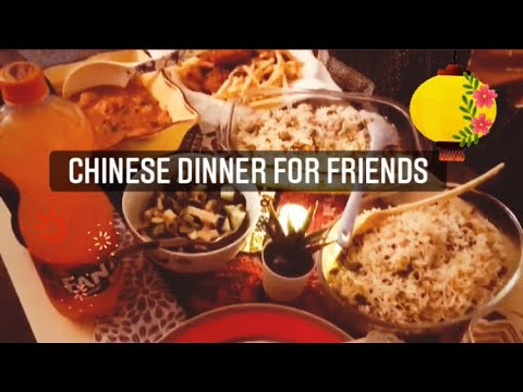 Chinese Dinner For Guests || Warm & cozy home #dawatvlog