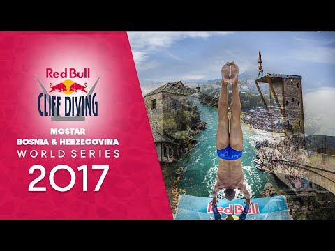 Would you dive off a bridge? Watch LIVE Red Bull Cliff Diving World Series Mostar, Bosnia