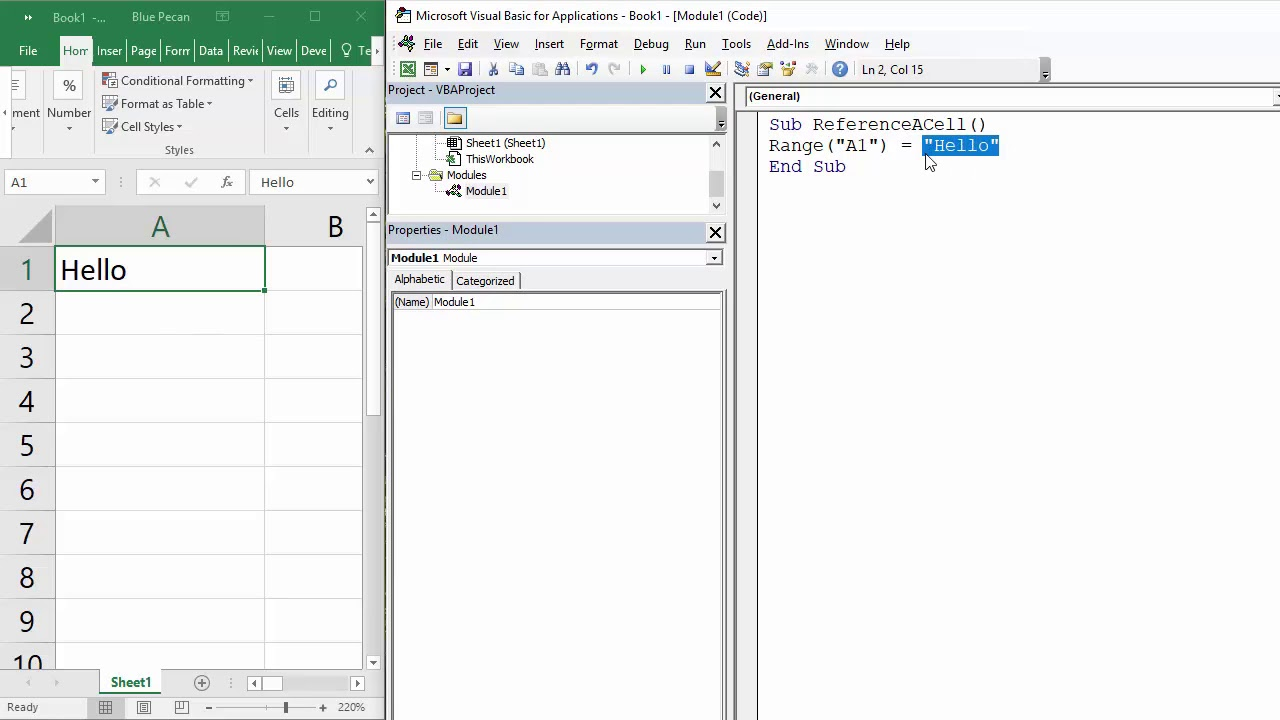 How to Reference a Cell in Excel VBA