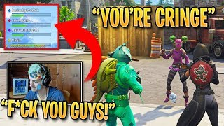 YouTubers Trash Talk Ninja About His Voice and He Gets Angry! | Fortnite Best Moments #77