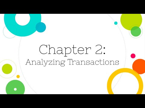 [Financial Accounting]: Chapter 2: Analyzing Transactions