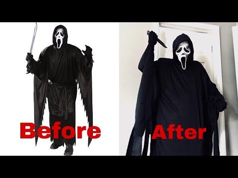 How To Convert A Fun World Scream Costume Into A Ghost Face Robe Replica Diy