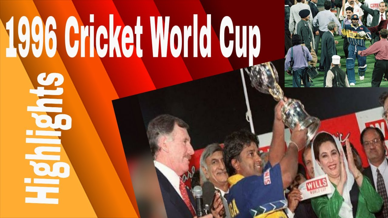1996 cricket world cup Final full highlights - YouTube