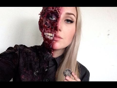 harvey dent two face special fx halloween makeup tutorial youtube