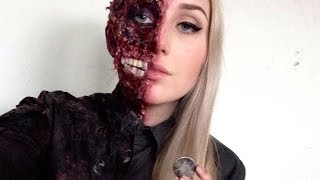 Harvey Dent // Two Face Special FX Makeup Tutorial ♡ Batman Series