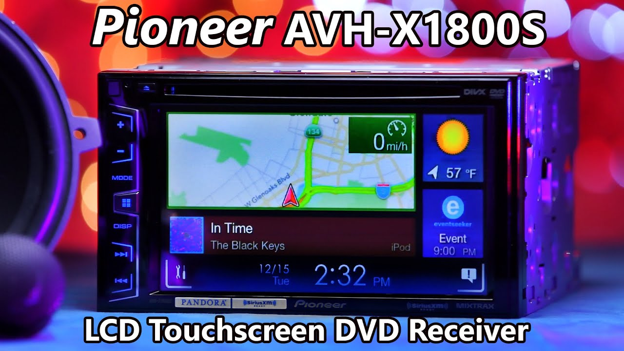 pioneer avh radio ausschalten 2000 pontiac grand am wiring diagram x1800s stereo demo and review 2016 youtube