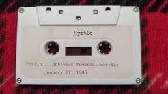 PJH Memorial Service 1/21/1985