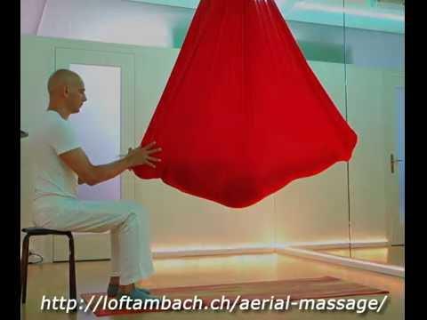Aerial thai yoga massage